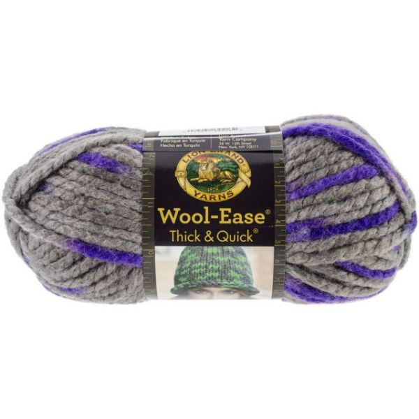 Lion Brand Wool-Ease Thick & Quick Yarn - Purple Martin