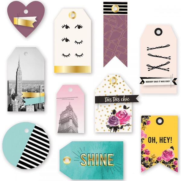 Urban Chic Layered Tags 10/Pkg