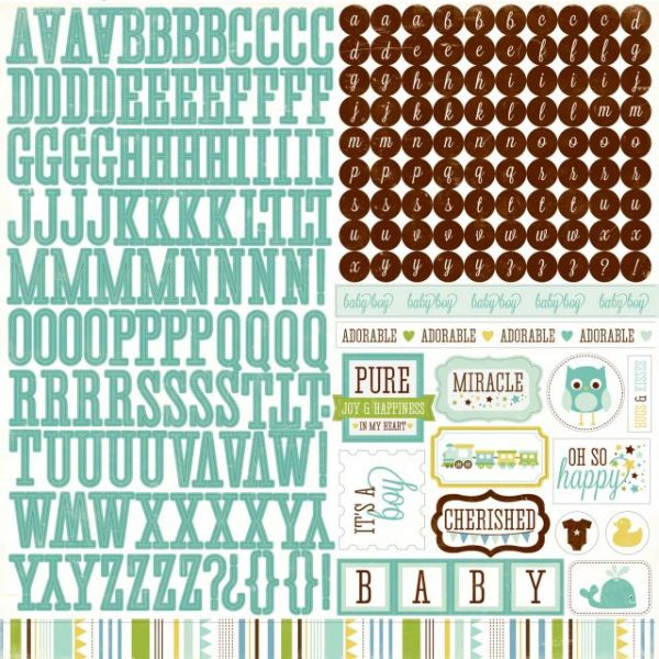 "Bundle Of Joy Boy Cardstock Stickers 12""X12"""