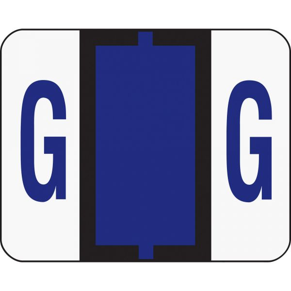 Smead BCCR Bar-Style Color-Coded Alphabetic Label - G