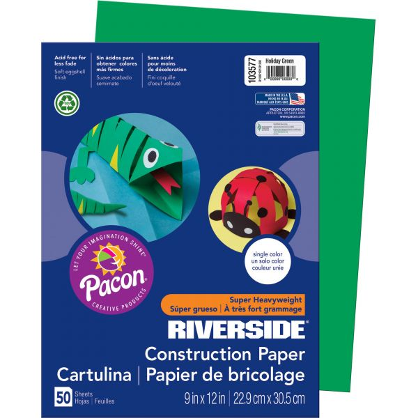 Riverside Groundwood Green Construction Paper
