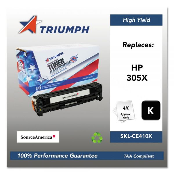 Triumph Remanufactured HP 305X (CE410X) Toner Cartridge