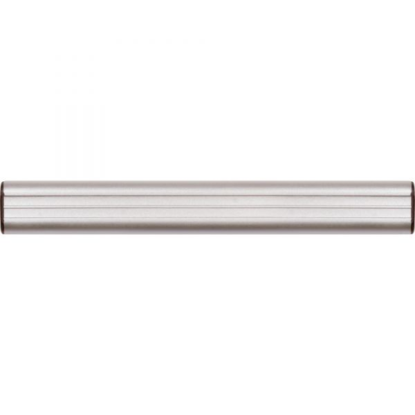 "Advantus Grip-A-Strip Display Rail, 9"" Long, 1 1/2"" High, Satin Aluminum Finish"