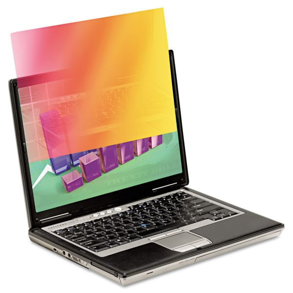 """3M Frameless Gold Notebook Privacy Filter for 15.6"""" Widescreen Monitor, 16:9"""