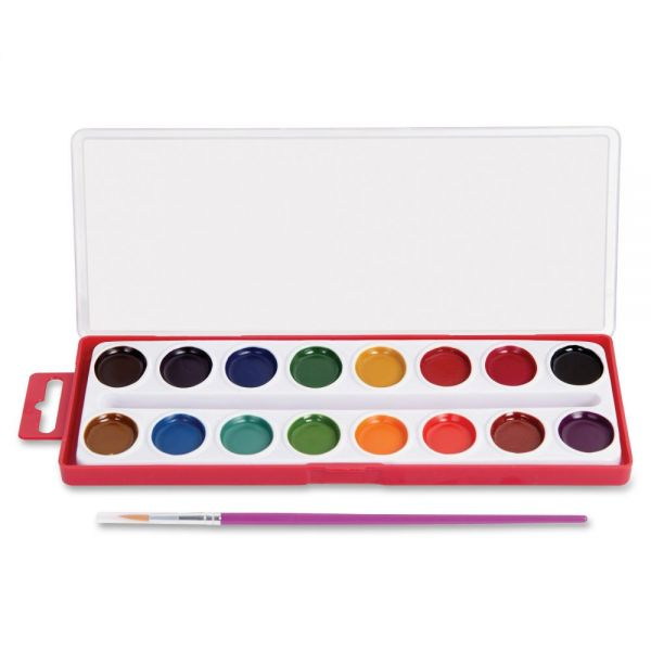 Mega Brands RoseArt 16-Color Washable Watercolors with Brush