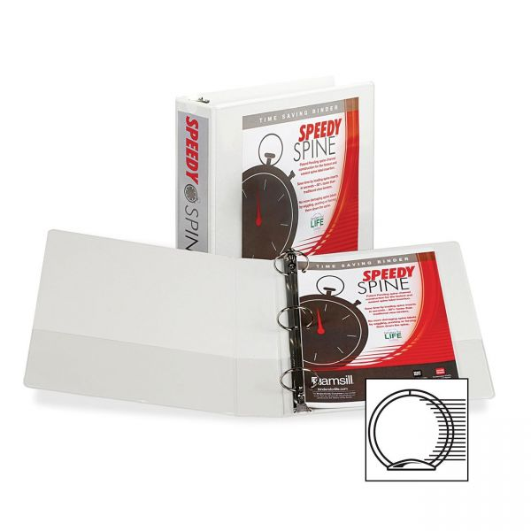 "Samsill Speedy Spine 2"" 3-Ring View Binder"