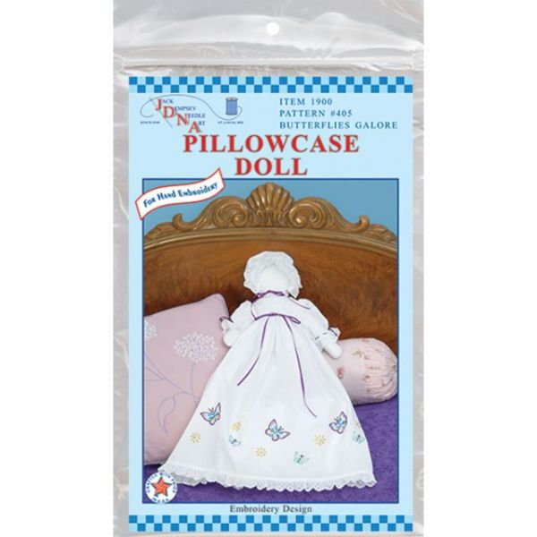Stamped White Pillowcase Doll Kit