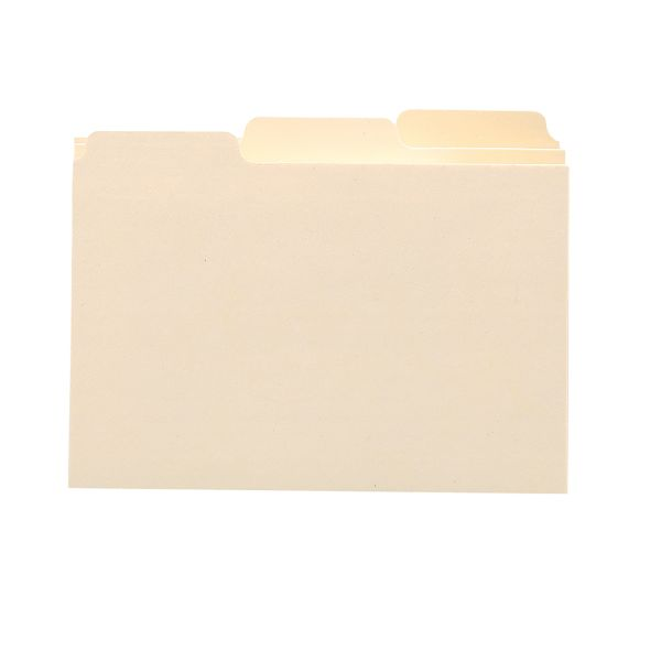 Smead Self-Tab Card Guides, 1/3 Tab, Manila, 3 x 5, 100 per Box