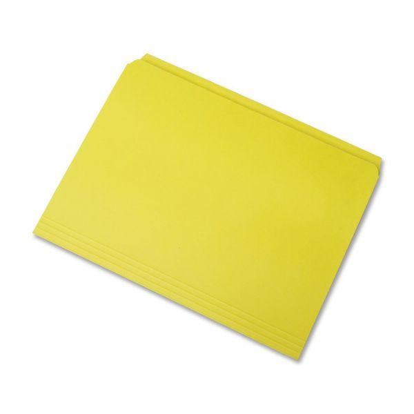 SKILCRAFT Yellow Colored File Folders