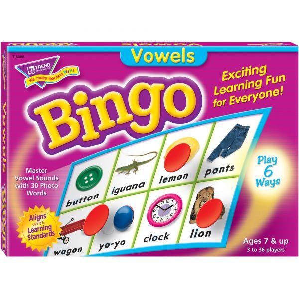 Vowels Bingo Game