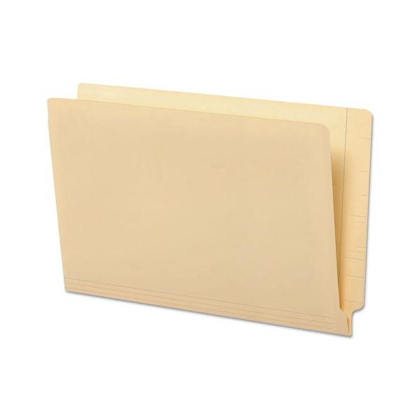 Universal Manila Reinforced Shelf Folder, Legal, 100/Box