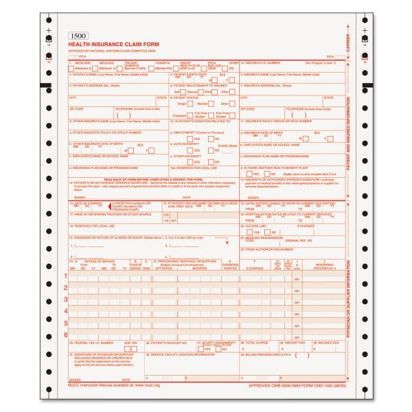 TOPS Two-part CMS-1500 Forms