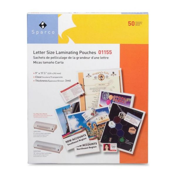 Sparco Letter Size Laminating Pouches