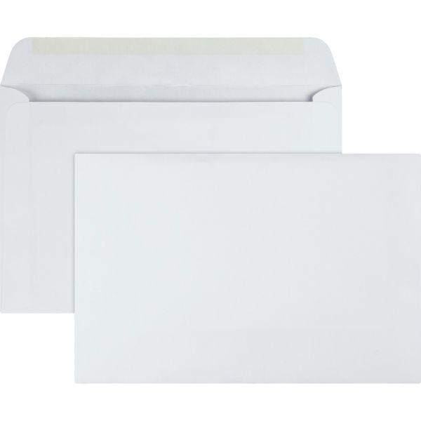 Quality Park Open Side Booklet Envelope, #55, 6 x 9, White, 100/Box
