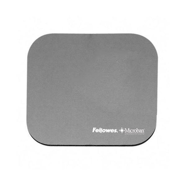 Fellowes Microban Mouse Pad, Silver