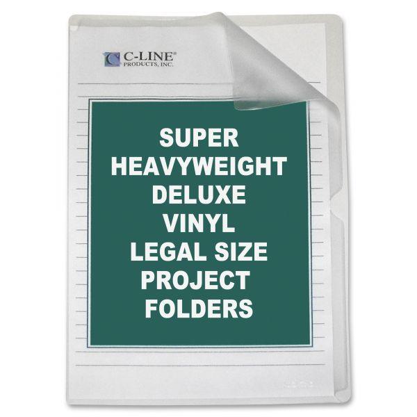 C-Line Deluxe Non-Glare Vinyl Project Folders