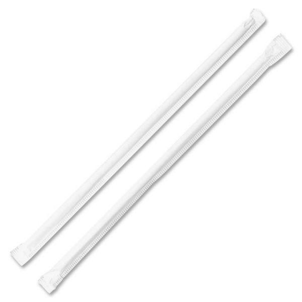 Genuine Joe Jumbo Translucent Wrapped Straws