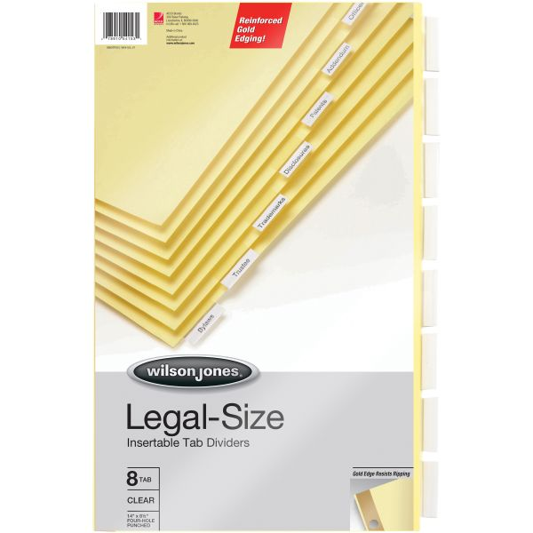 Wilson Jones Gold Line Insertable Tab Index Dividers