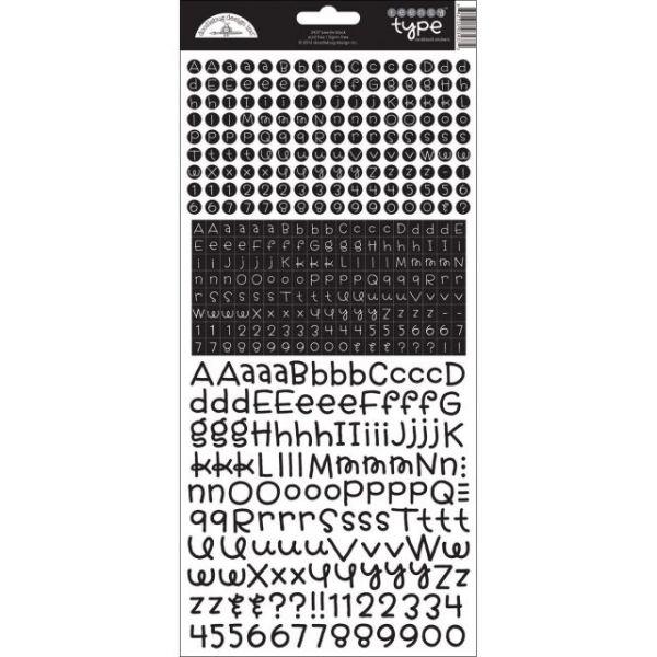 Teensy Type Cardstock Alphabet Stickers