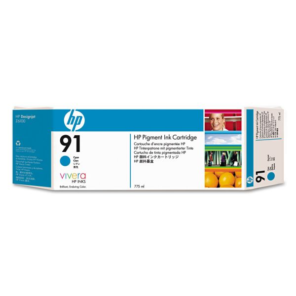 HP 91 Cyan Ink Cartridge (C9467A)