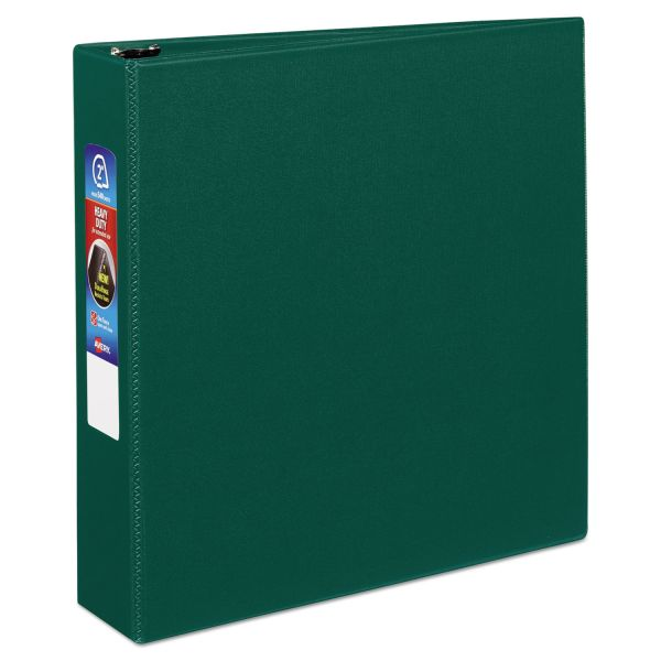 """Avery Heavy-Duty 3-Ring Binder with One Touch EZD Rings, 2"""" Capacity, Green"""