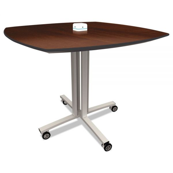 Nomad by Palmer Hamilton Reload Mobile Charging Table, 36 x 36 x 29, Walnut