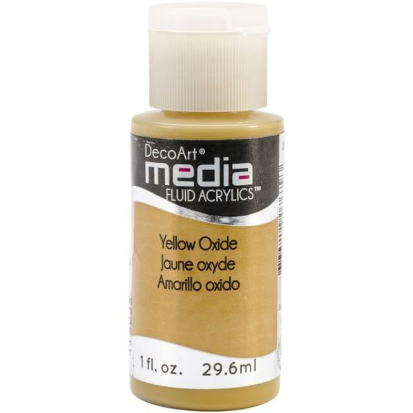 Deco Art Media Yellow Oxide Fluid Acrylics