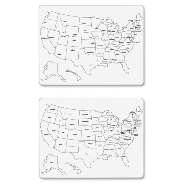 ChenilleKraft Large USA Map Dry Erase Board