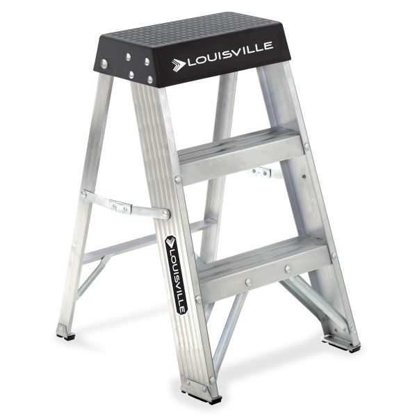 Louisville 2-Step Aluminum Step Ladder