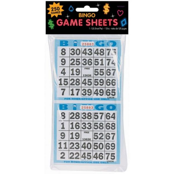 "Bingo Game Sheets 4""X8"" 125/Pkg"