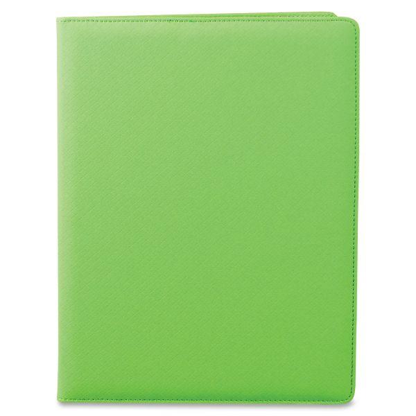 Samsill Fashion Padfolio, 8 1/2 x 11, Lime PVC