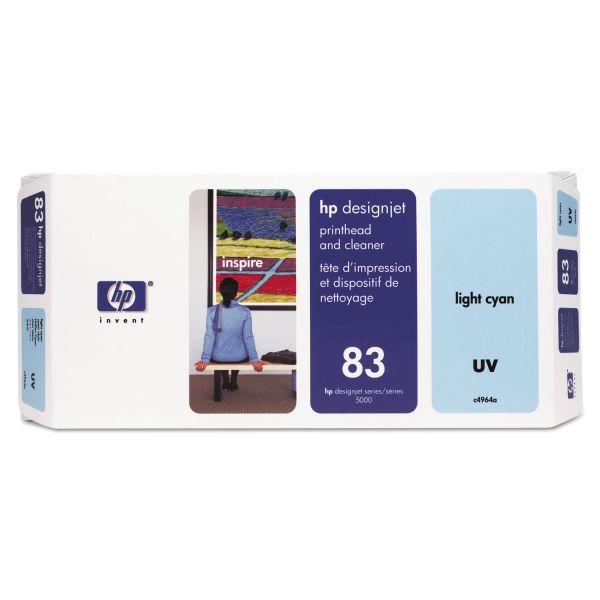 HP 83 (C4964A) UV Light Cyan Printhead and Cleaner