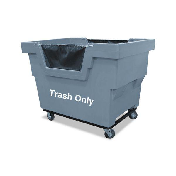 Royal Basket Trucks Mail Truck, Trash Only, 31 3/4 x 48 x 37, 1,000 lbs. Capacity, Gray
