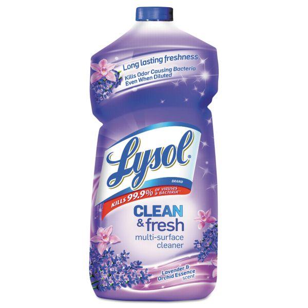 LYSOL Brand Clean & Fresh Multi-Surface Cleaner, Lavender & Orchid Scent, 40 oz Bottle