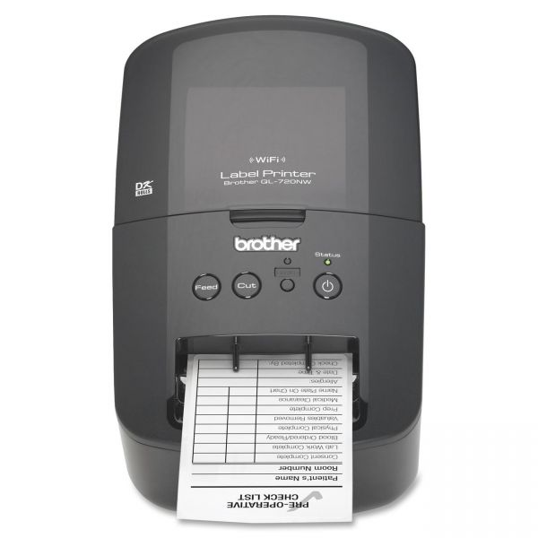 """Brother QL-720NW Label Printer, 93 Labels/Minute, 5""""w x 9-3/8""""d x 6""""h"""