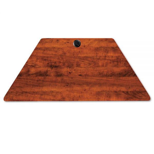 Alera Valencia Series Trapezoid Table Top, 48w x 24d, Medium Cherry