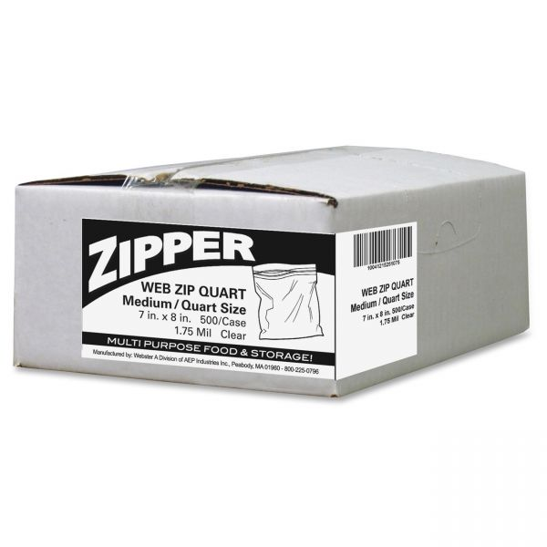 Webster Zipper Quart Size Storage Bags