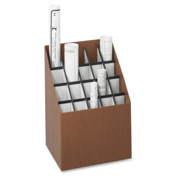 Safco Woodgrain Recycled Upright Roll Files