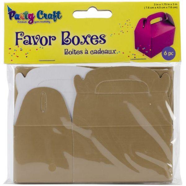 """Favor Boxes 3""""X1.75""""X3"""" 6/Pkg"""