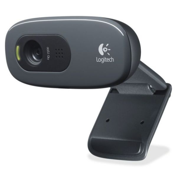Logitech C270 Webcam - Black - USB 2.0 - 1 Pack(s)