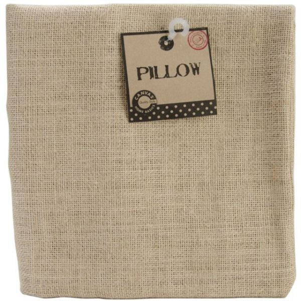 "Burlap Pillow Square 18""X18"""