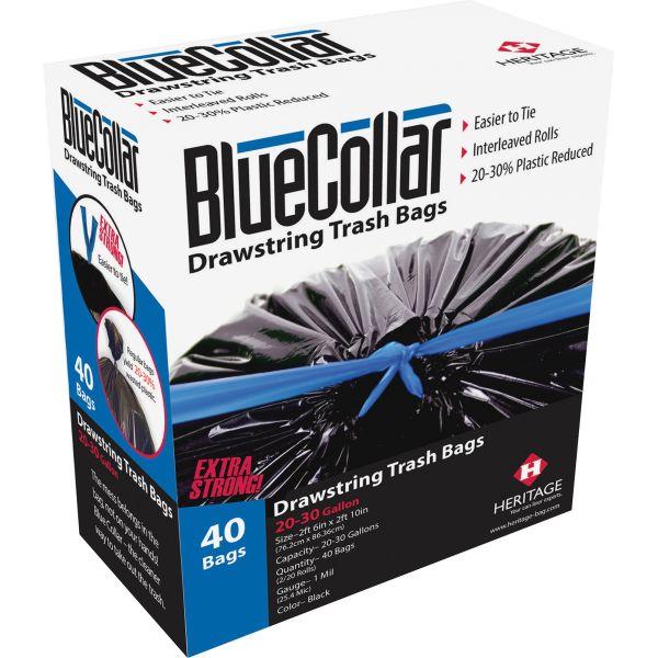 BlueCollar Drawstring 13 Gallon Trash Bags