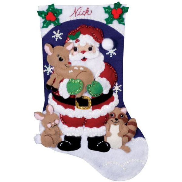 Forest Friends Stocking Felt Applique Kit