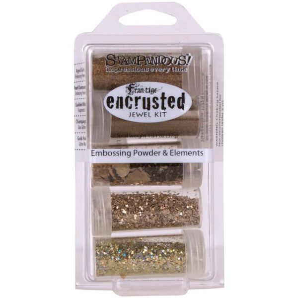 Stampendous Encrusted Jewel Kit 5/Pkg