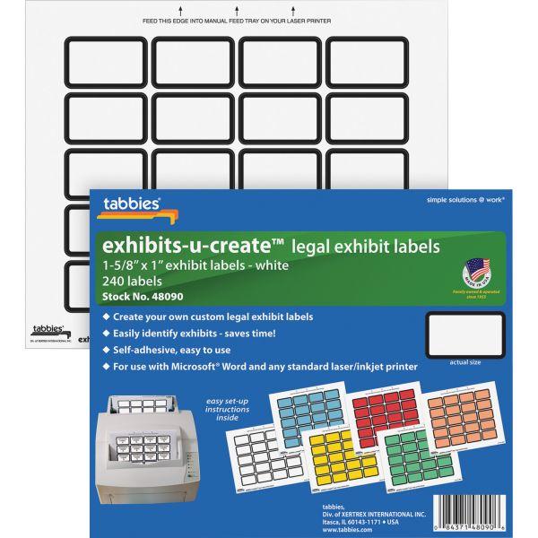 Tabbies Exhibit-U-Create Legal File Labels