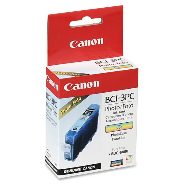 Canon BCI-3PC Photo Cyan Ink Cartridge (4483A003)