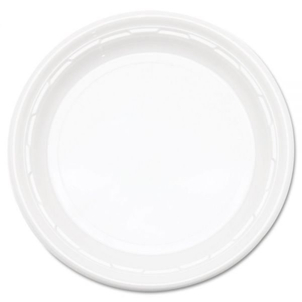 "Dart Famous Service Plastic Impact Dinnerware, Plate, 9"", White, 125/Pack"