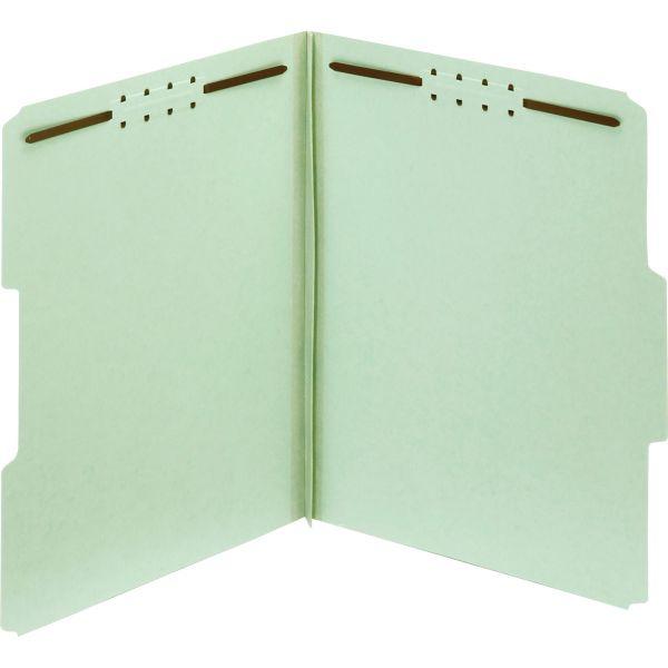 Globe-Weis 100% Recycled Presssboard File Folders With Fasteners