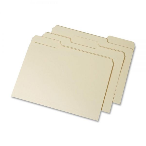 SKILCRAFT Interior Height Top Tab Manila File Folders