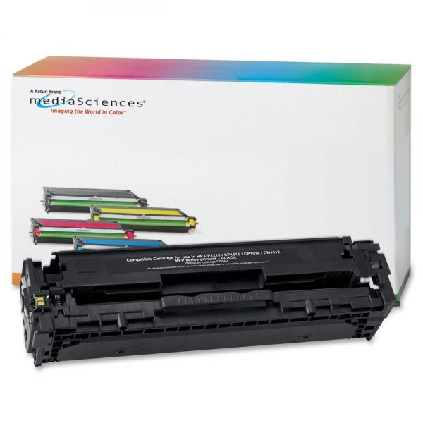 Media Sciences Remanufactured HP CB540A Black Toner Cartridge